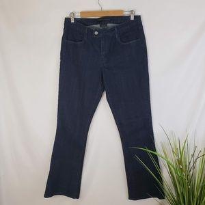 Levi Darkwash Mid-Rise Skinny Bootcut Jeans 12